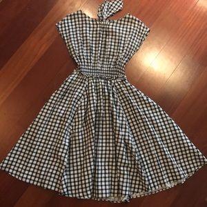Zara A-Line Gingham Dress